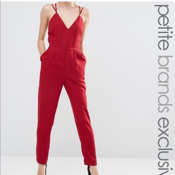 d5955ba173 ASOS True Decadence Petite Red Jumpsuit